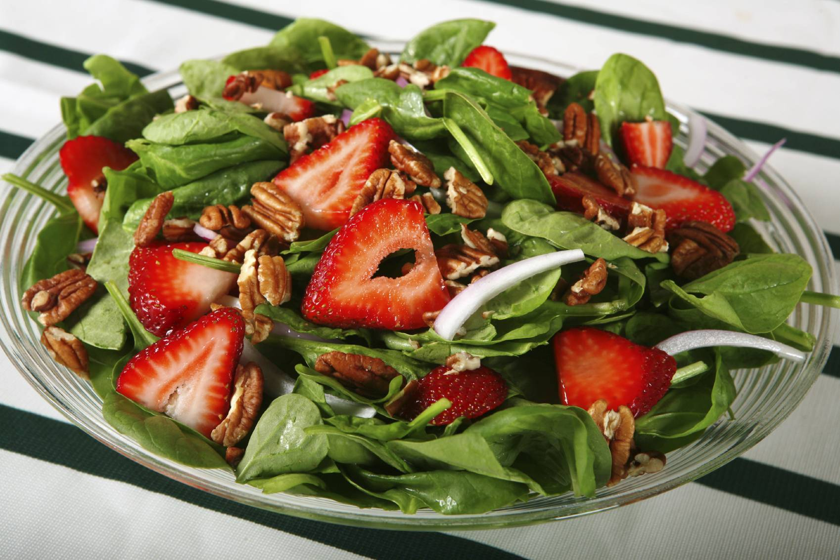 Spinach Salad with Strawberries & Poppy Seed Dressing