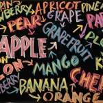 Fruit Chalkboard