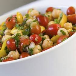 Chickpeas with Lemon & Cherry Tomatoes