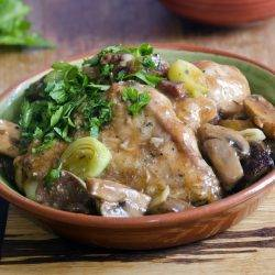Chicken Dijon With Leeks & Mushrooms
