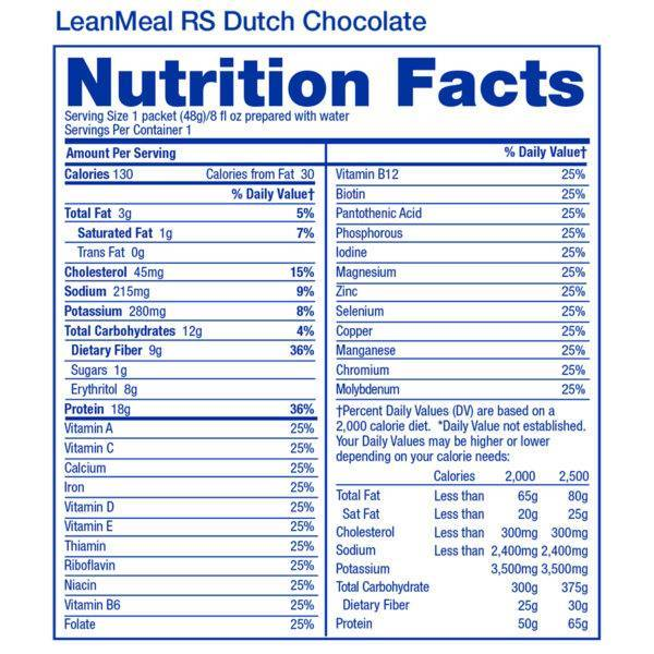 2019-LeanMeal-RS-Dutch-Chocolate-Single-Serving-Facts-Square